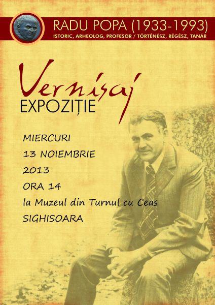 Expoziție, catalog de expoziție Radu Popa (1933-1993): Istoric, Arheolog, Profesor