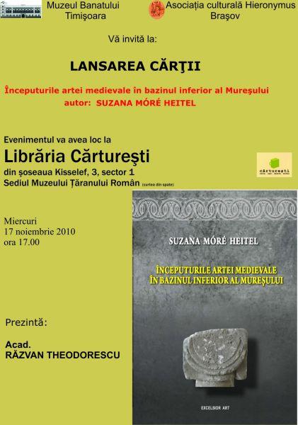 Inceputurile artei medievale în bazinul inferior al Mureşului